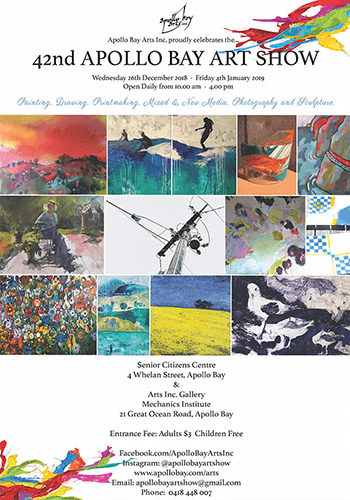 42nd Apollo Bay Art Show Exhibition Poster by Kimberley Roxburgh