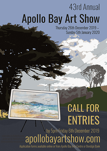 43rd Apollo bay art Show Call For Entries Poster by Eldritch Forest
